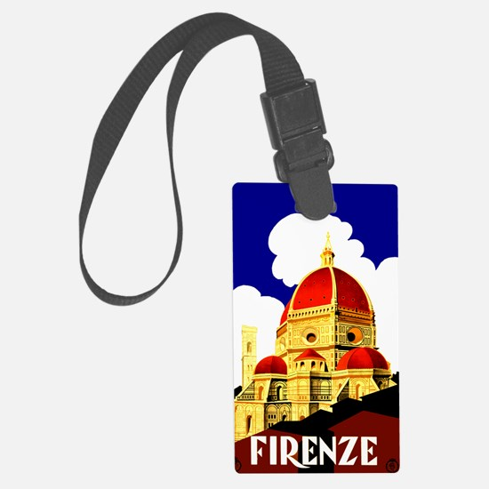 Vintage Florence Italy Travel Luggage Tag