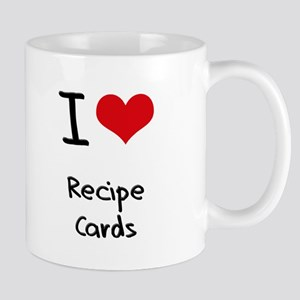 I Love Recipe Cards Mug