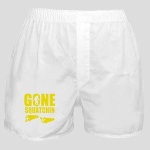 Gone Squatchin footprints Boxer Shorts