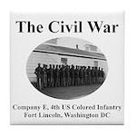 Fort Lincoln Civil War Infantry Tile Coaster