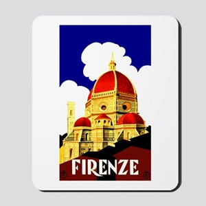 Vintage Florence Italy Travel Mousepad