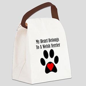 My Heart Belongs To A Welsh Terrier Canvas Lunch B