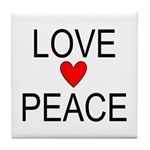 Love Peace Tile Coaster