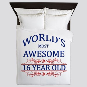 World's Most Awesome 16 Year Old Queen Duvet