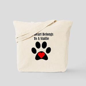 My Heart Belongs To A Staffie Tote Bag