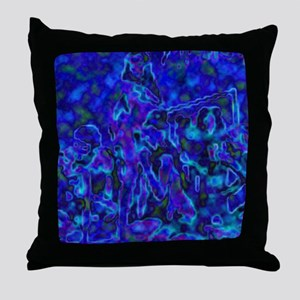 The Blue Party Throw Pillow