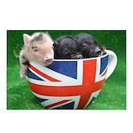 Tea Cup Piggies Postcards (Package of 8)