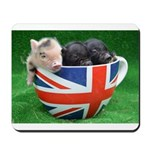 Tea Cup Piggies Mousepad