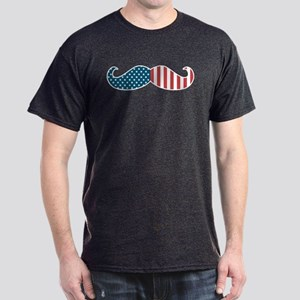 Patriotic Mustache Dark T-Shirt