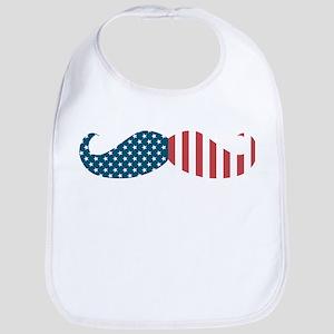 Patriotic Mustache Bib