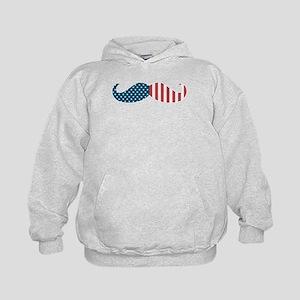 Patriotic Mustache Kids Hoodie