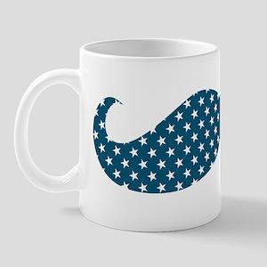 Patriotic Mustache Mug