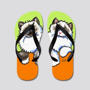 Ragdoll Ragamuffin Cats Citrus Lime Flip Flops