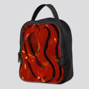 Heart of Fire Neoprene Lunch Bag
