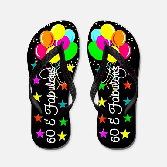 COLORFUL 60TH Flip Flops