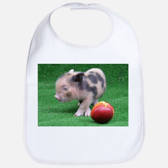 Peach as a Pig Bib