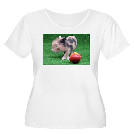 Peach as a Pig Plus Size T-Shirt