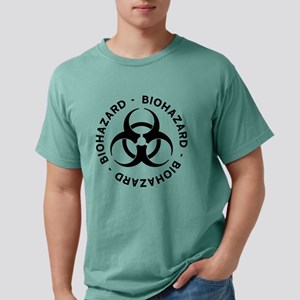 Biohazard Warning Mens Comfort Colors Shirt