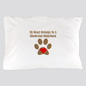 My Heart Belongs To A Rhodesian Ridgeback Pillow C