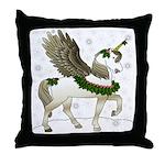 Holly Pegacorn! Winter Throw Pillow
