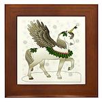 Holly Pegacorn! Winter Framed Tile