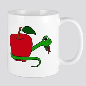 Serpent and Apple Cartoon Mug