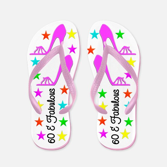 SNAZZY 60TH Flip Flops