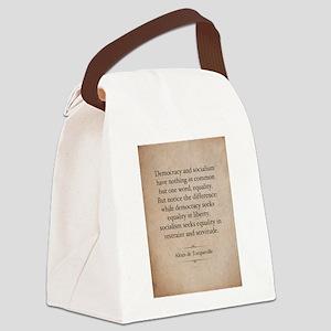 Alexis de Tocqueville Quote Canvas Lunch Bag