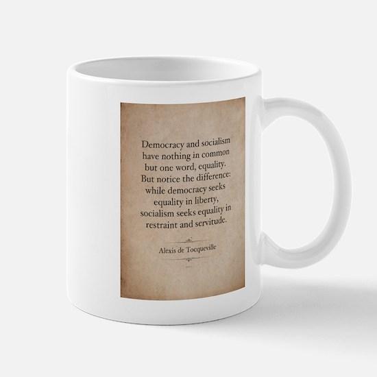 Alexis de Tocqueville Quote Mug