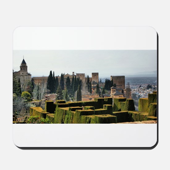 The Alhambra palace in Spain Mousepad