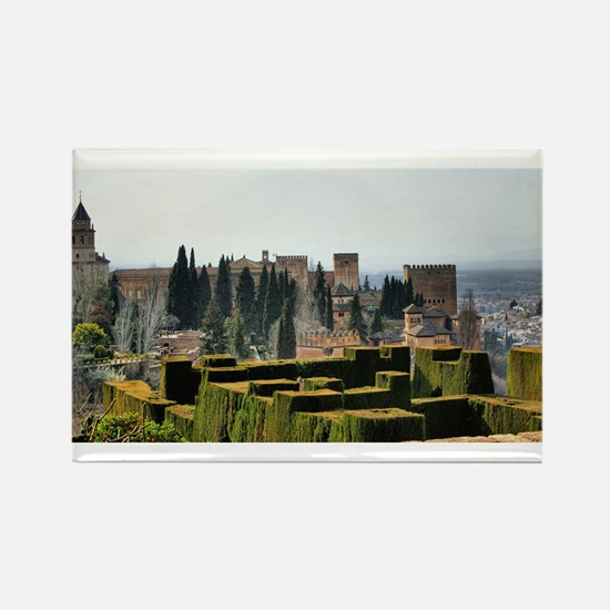The Alhambra palace in Spain Rectangle Magnet