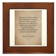 Alexis de Tocqueville Quote Framed Tile