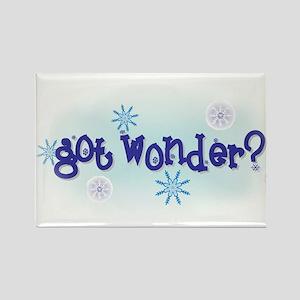 'got wonder?' Rectangle Magnet