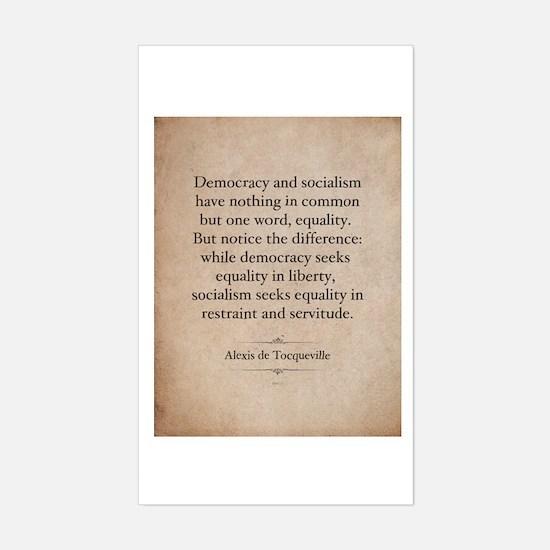 Alexis de Tocqueville Quote Decal
