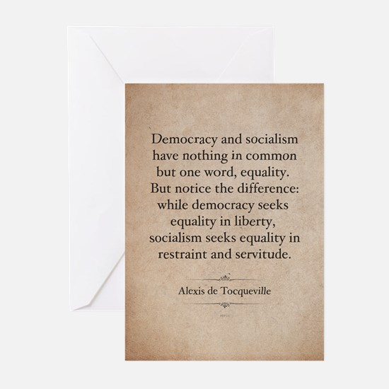 Alexis de Tocqueville Quote Greeting Cards (Pk of