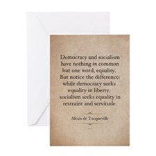 Alexis de Tocqueville Quote Greeting Card