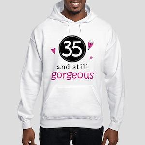 34th Birthday Gorgeous Hooded Sweatshirt