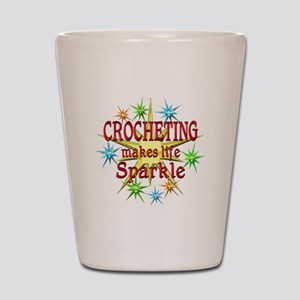 Crocheting Sparkles Shot Glass