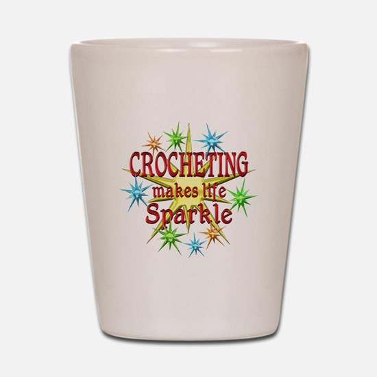 Crocheting Sparkles Shot Glass