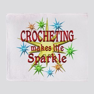 Crocheting Sparkles Throw Blanket