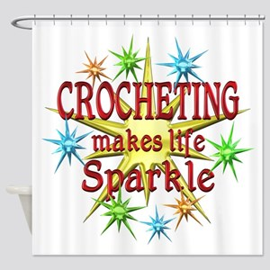 Crocheting Sparkles Shower Curtain