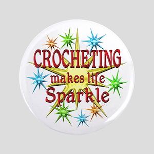 "Crocheting Sparkles 3.5"" Button"