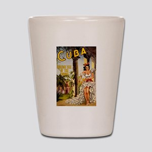 Vintage Cuba Tropics Travel Shot Glass