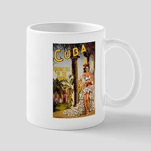 Vintage Cuba Tropics Travel Mug