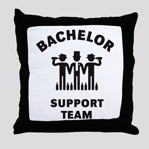 Bachelor Support Team (Stag Party / Black) Throw P