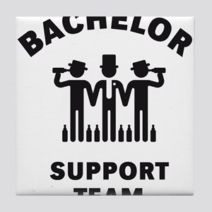 Bachelor Support Team (Stag Party / Black) Tile Co