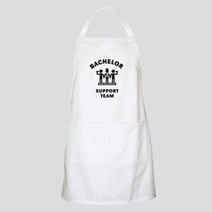 Bachelor Support Team (Stag Party / Black) Apron