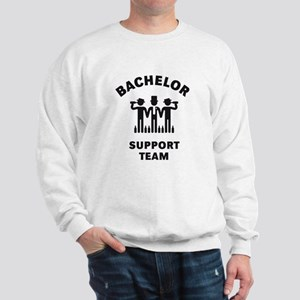 Bachelor Support Team (Stag Party / Black) Sweatsh