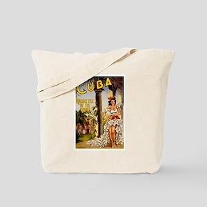 Vintage Cuba Tropics Travel Tote Bag