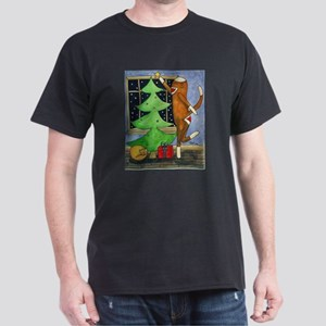 Christmas Sock Monkey Dark T-Shirt